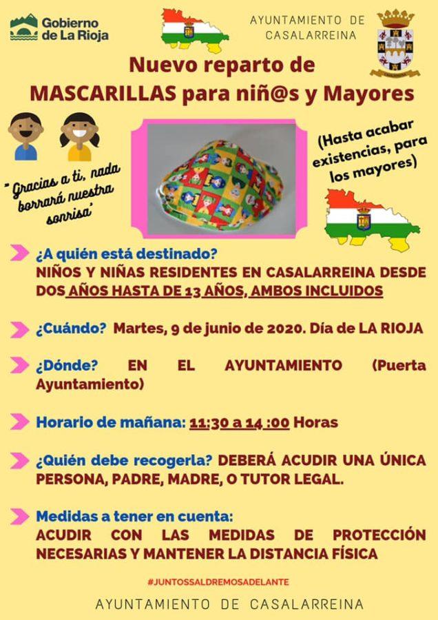 Haro repartirá este martes las mascarillas del Día de La Rioja 1