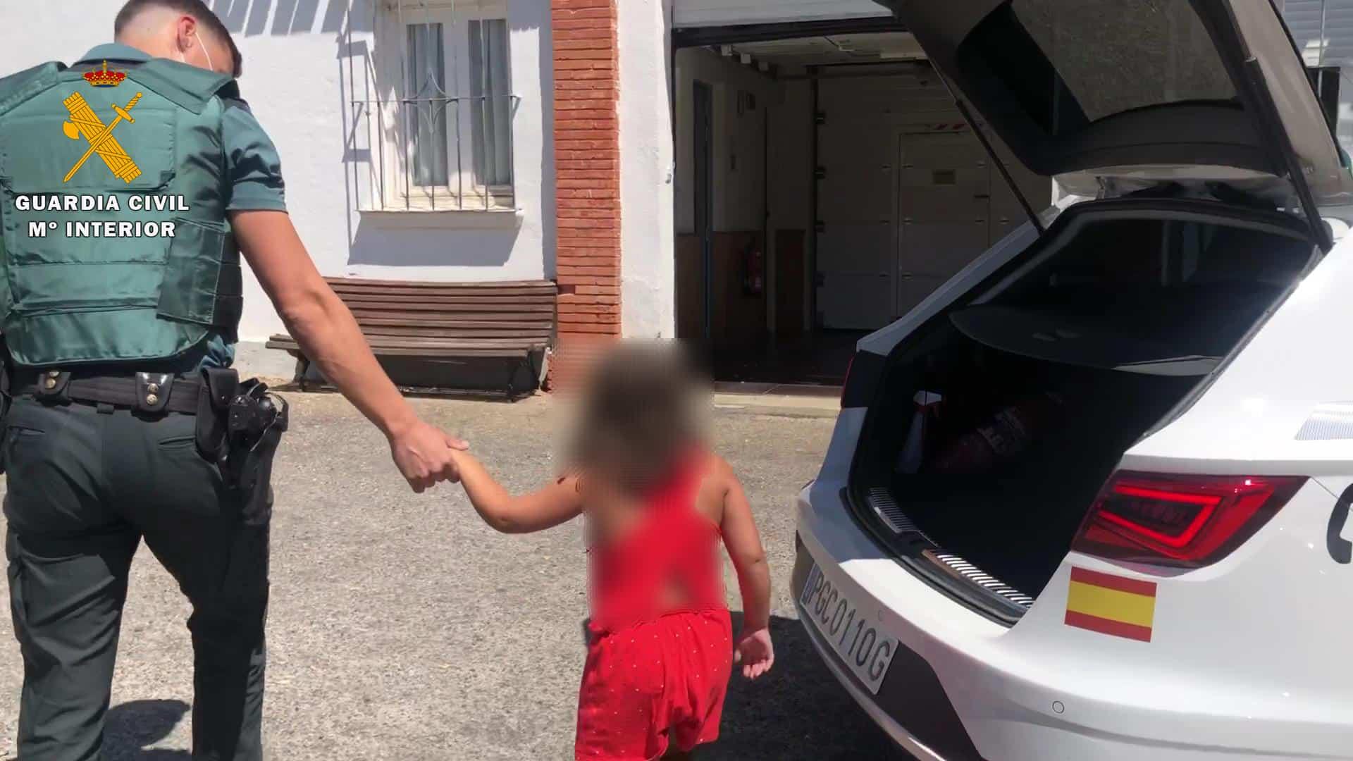 La Guardia Civil auxilia a una niña de 7 años, abandonada en plena N-111 a su paso por La Rioja 1