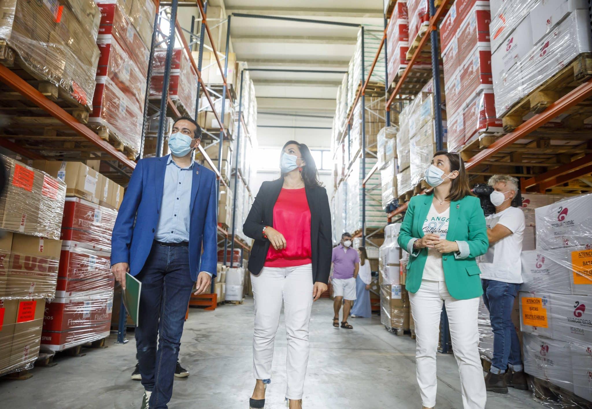 """El almacén del Gobierno riojano, """"preparado para lo imprevisible"""", con más de 10 millones de unidades de material sanitario 2"""