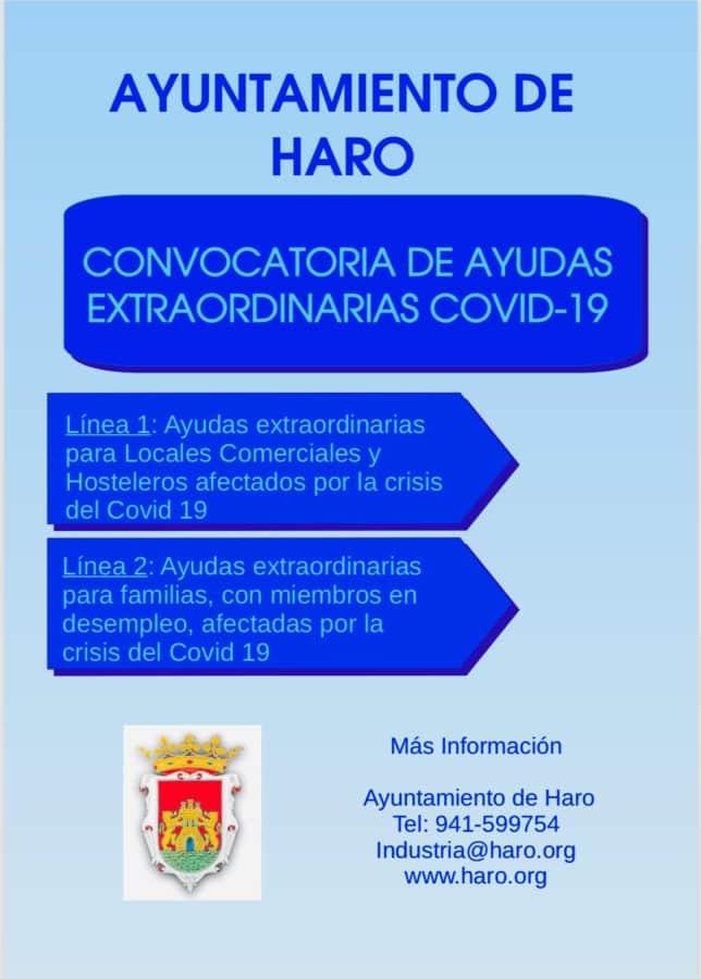 El BOR publica las bases de la Bolsa de Ayudas Única del Ayuntamiento de Haro 1
