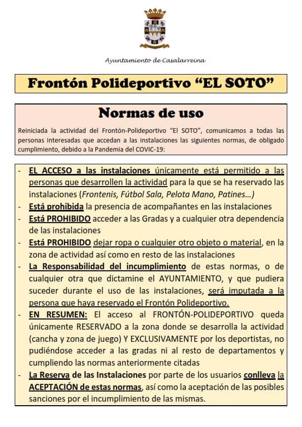 Casalarreina reabre El Soto a la práctica deportiva con medidas de seguridad ante el COVID-19 1