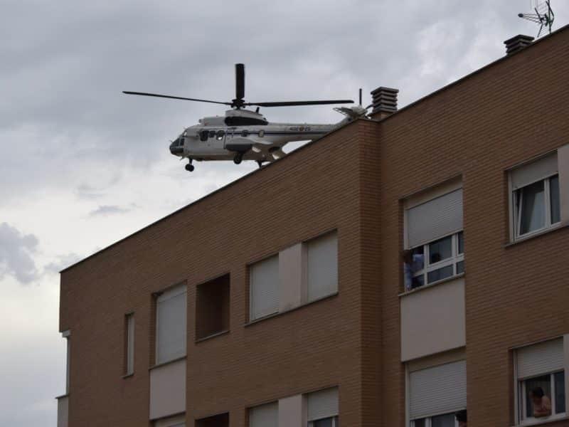 Helicóptero de Pedro Sánchez