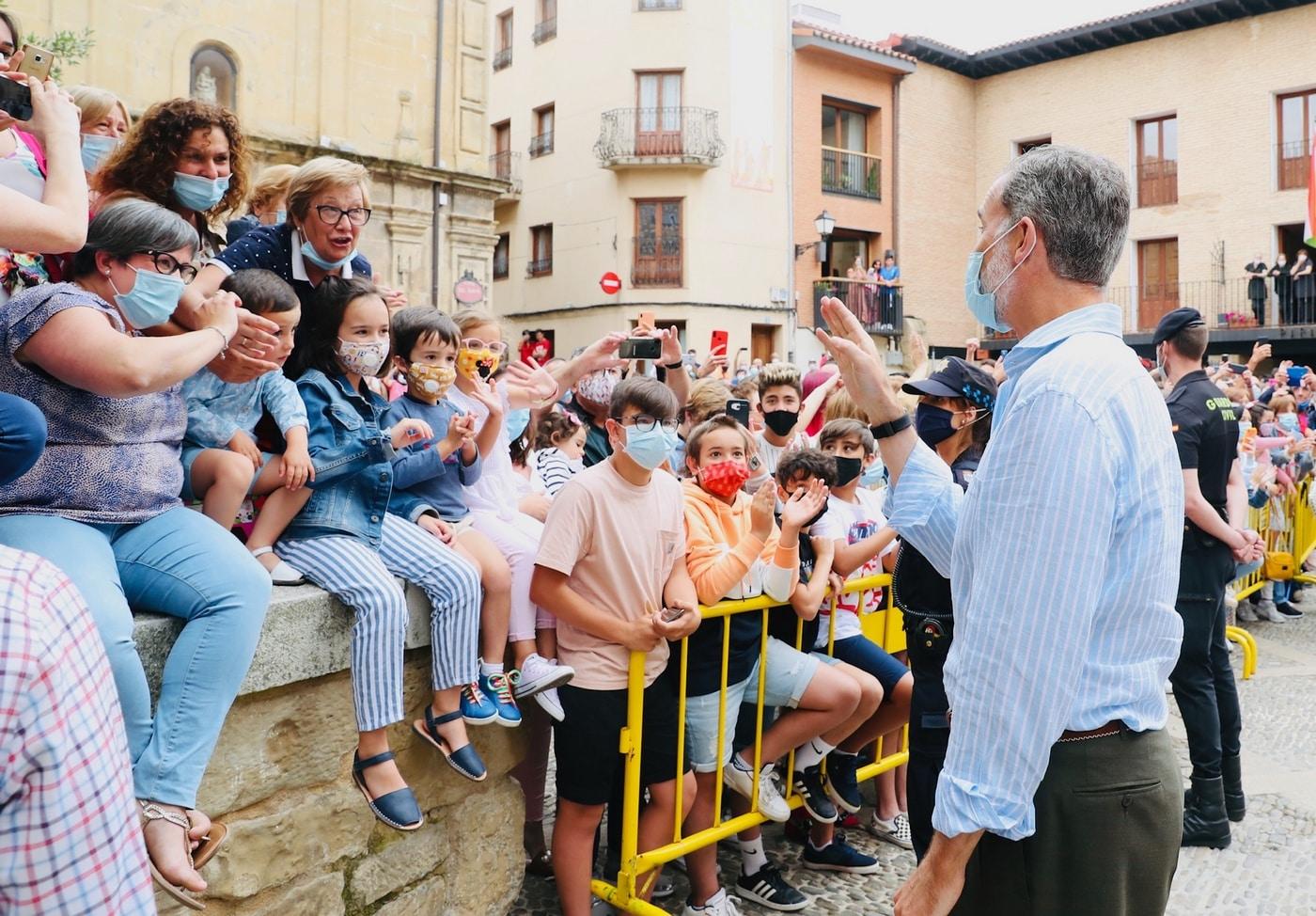 VÍDEO: Las imágenes de la visita de los Reyes de España a Haro y Santo Domingo 15