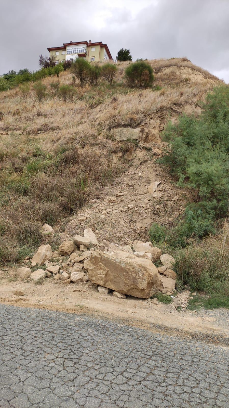 Desprendimiento en el cerro de la Atalaya de Haro 6