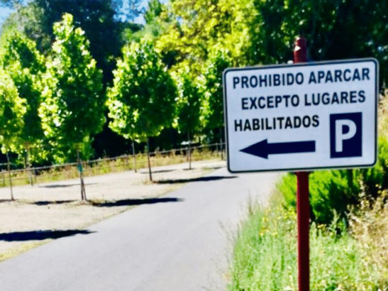 Señal de tráfico en El Moro