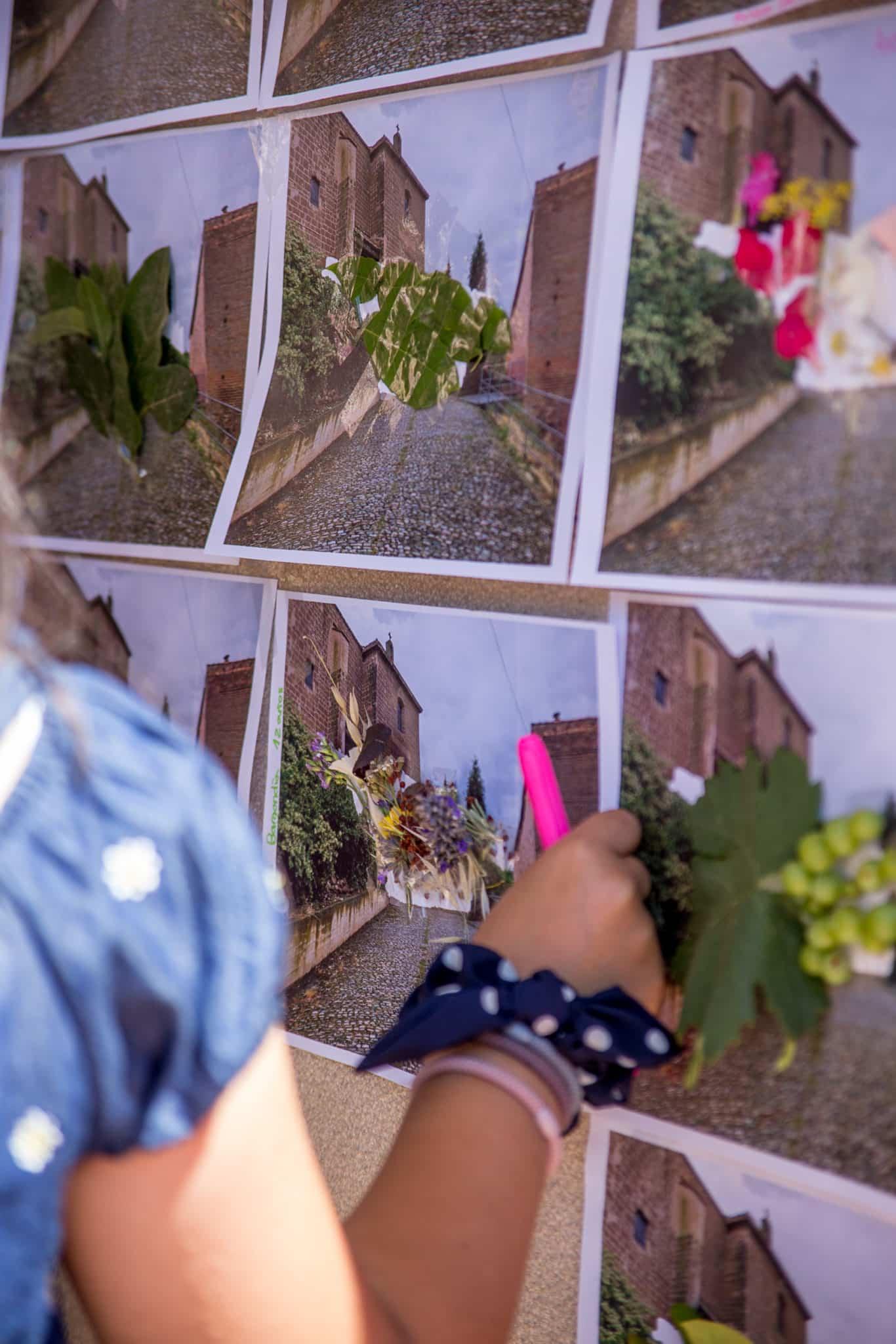 El muro 'manchado' por Carlos Corres en Ventosa con la ayuda de sus vecinos 2