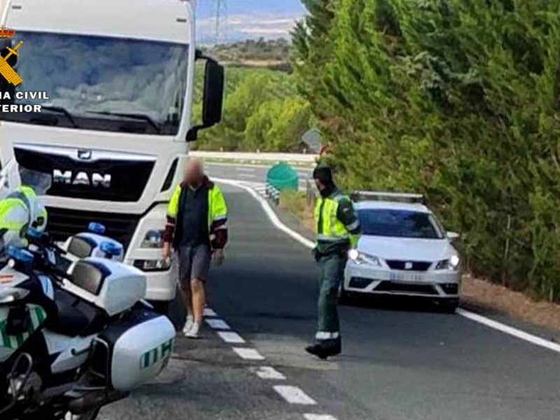 Guardia Civil detiene a un camionero