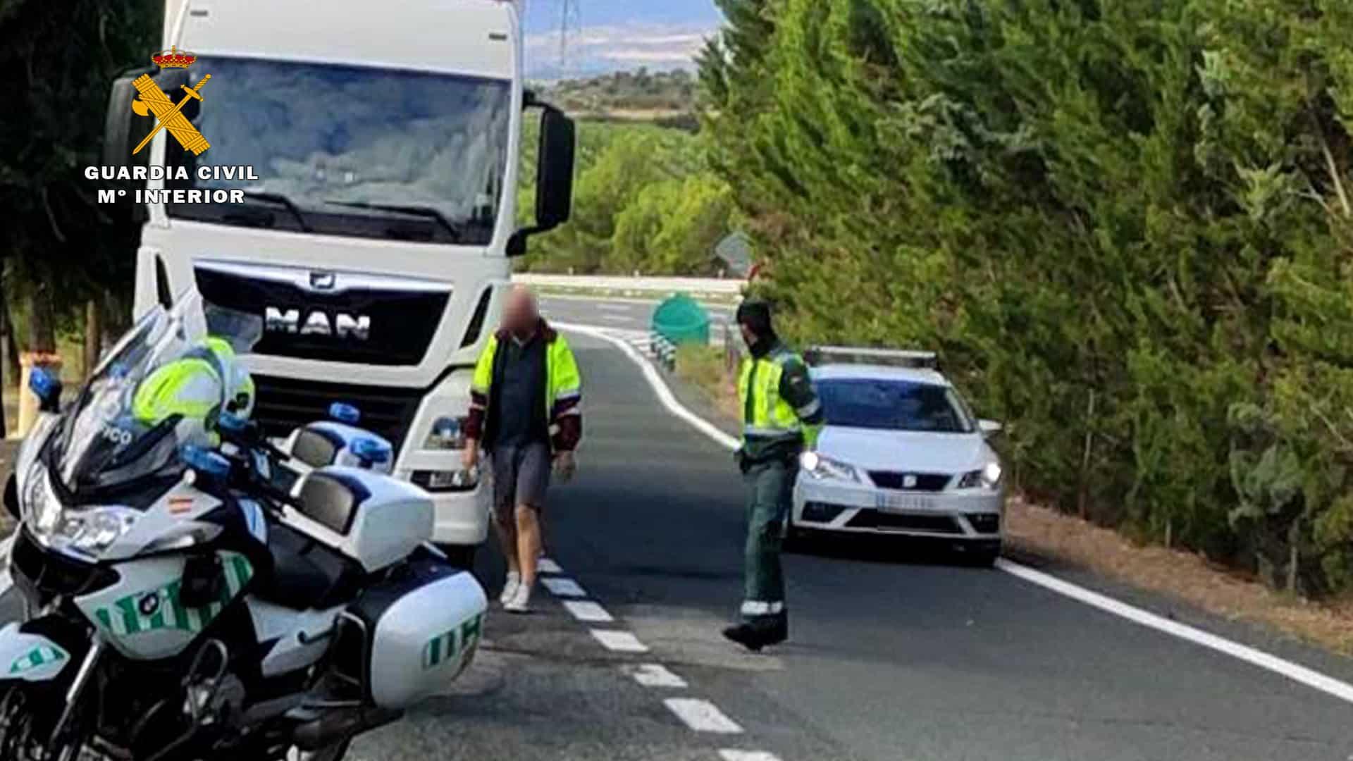 Guardia Civil detiene a un camionero