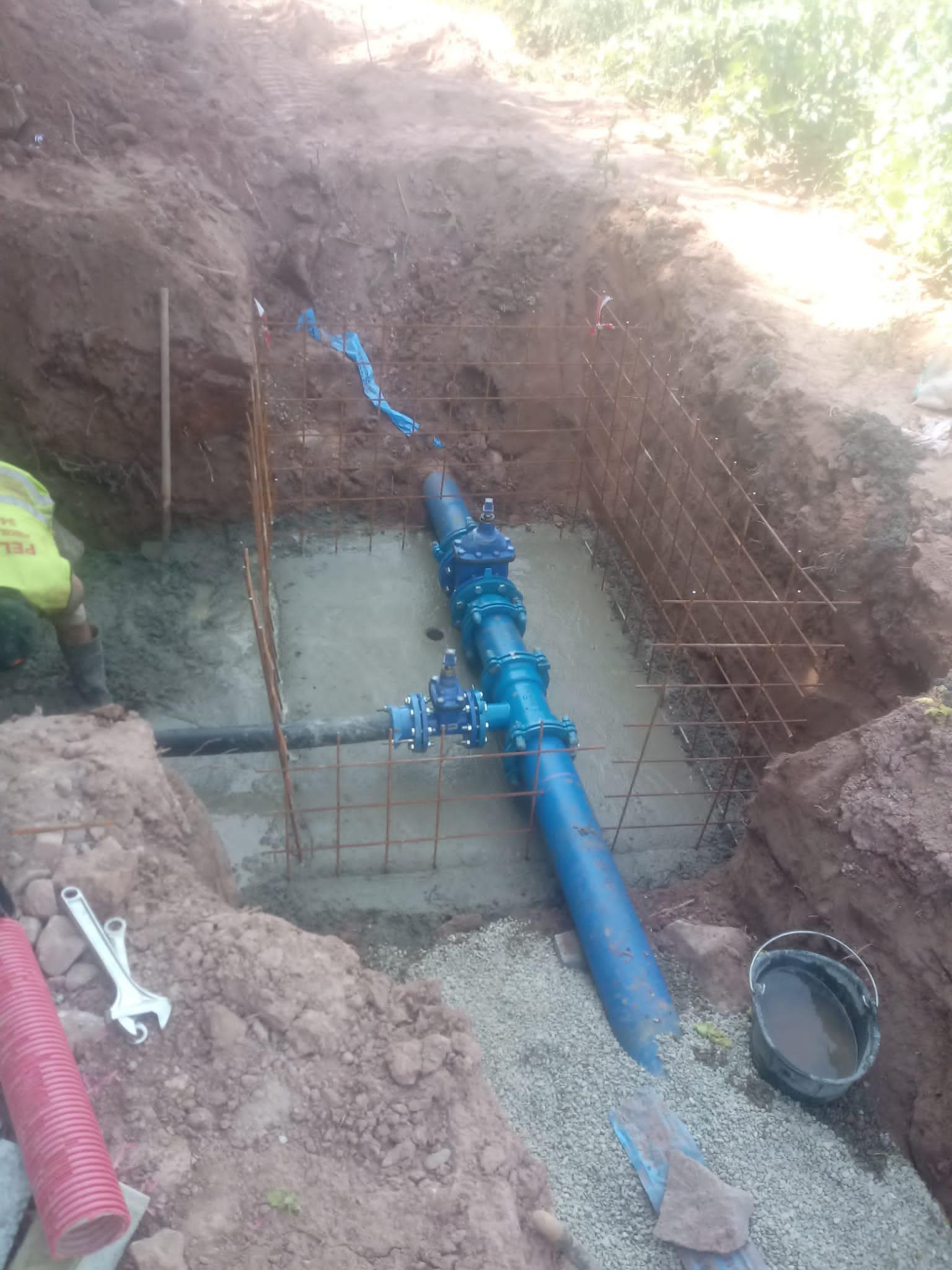Finaliza la obra de renovación de una tubería para mejorar el abastecimiento de agua en Badarán 2