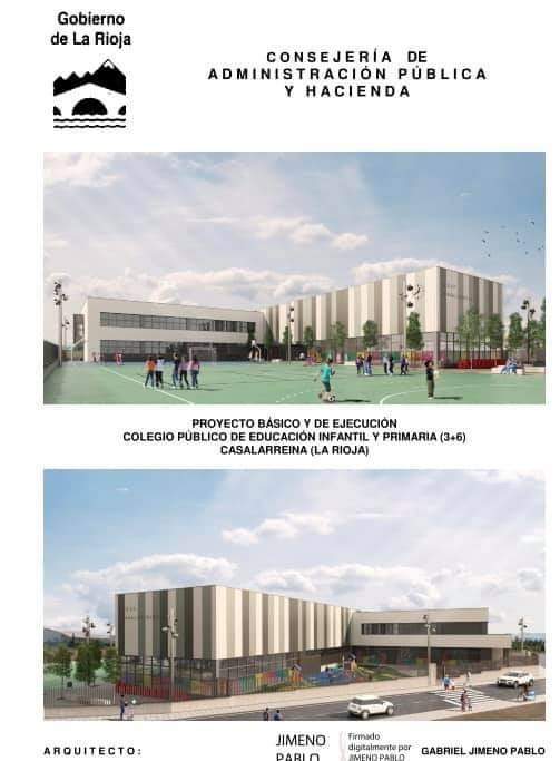 El Gobierno riojano licita las obras del nuevo colegio de Casalarreina por casi 5 millones de euros 1