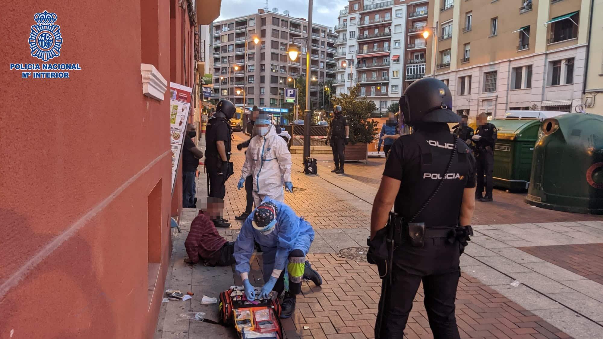 Detenidos dos hombres que resultaron heridos en una pelea entre ellos con cuchillos y cristales de botellas en Logroño 1