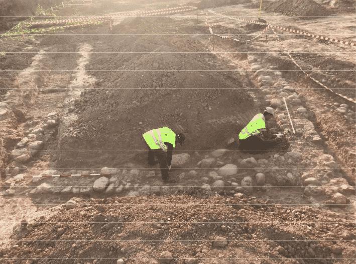 Los sondeos arqueológicos en las obras de la Ronda Sur confirman el hallazgo de un yacimiento en Lardero 1