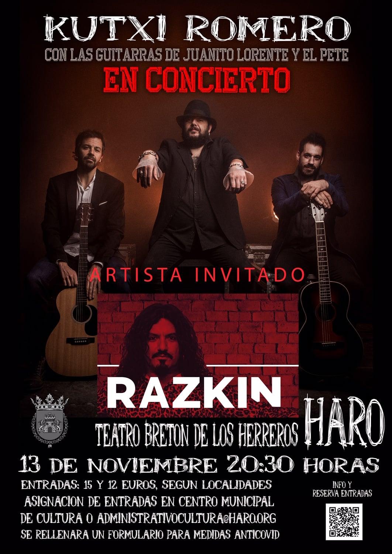 Haro acogerá el 13 de noviembre un concierto acústico de Kutxi Romero 1