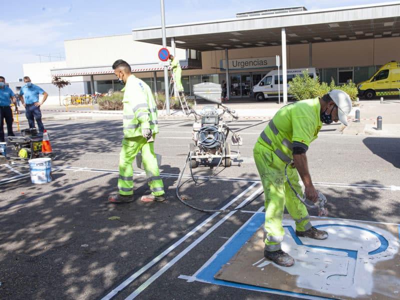 Obras aparcamiento Urgencias