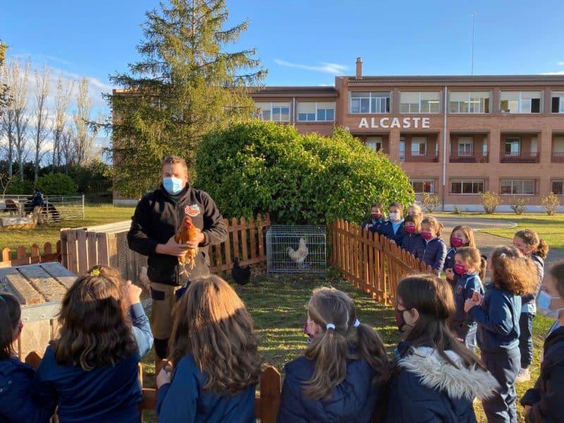 Granja en el Colegio Alcaste