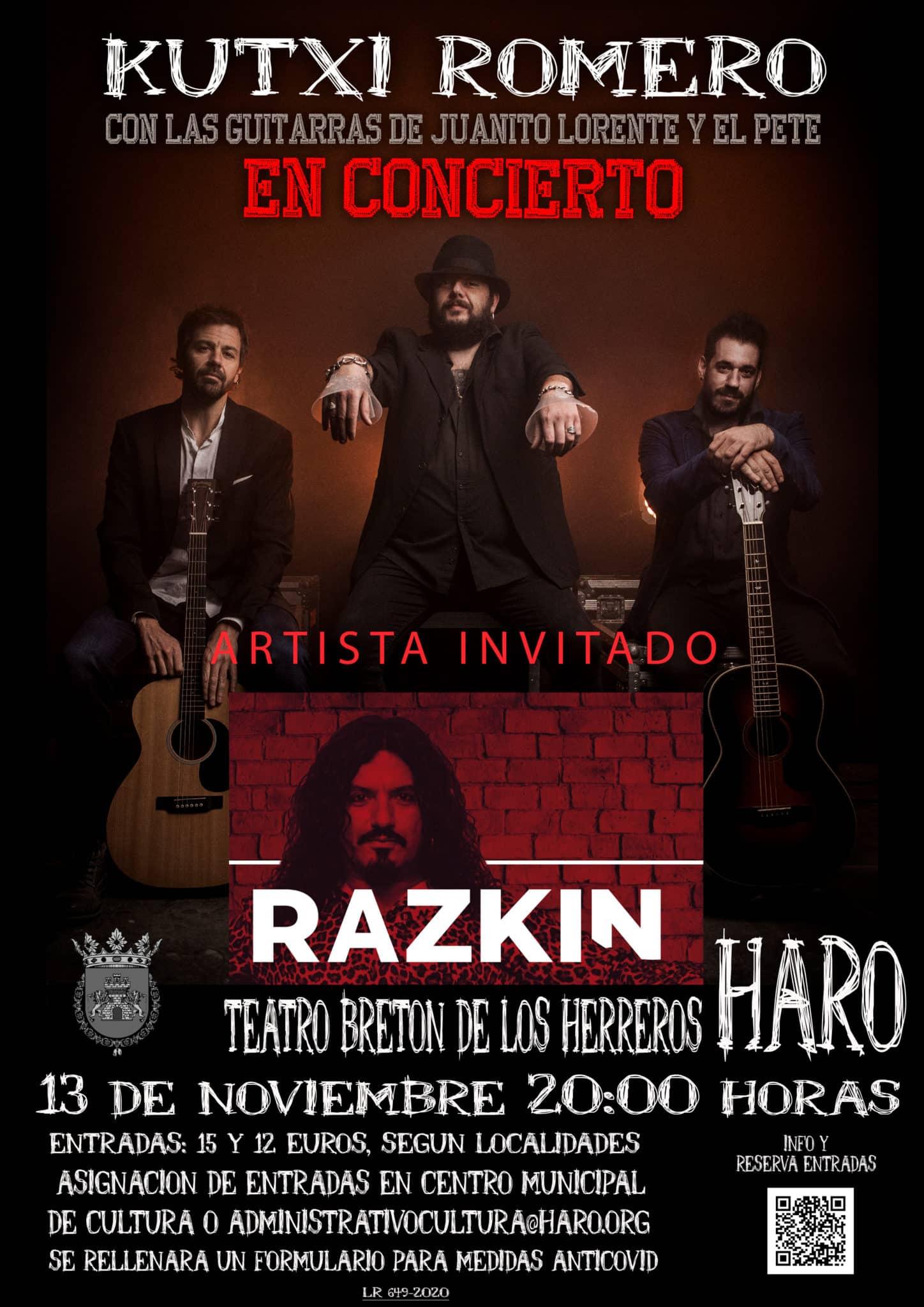 Haro adelanta el horario del concierto de Kutxi Romero por el toque de queda 1