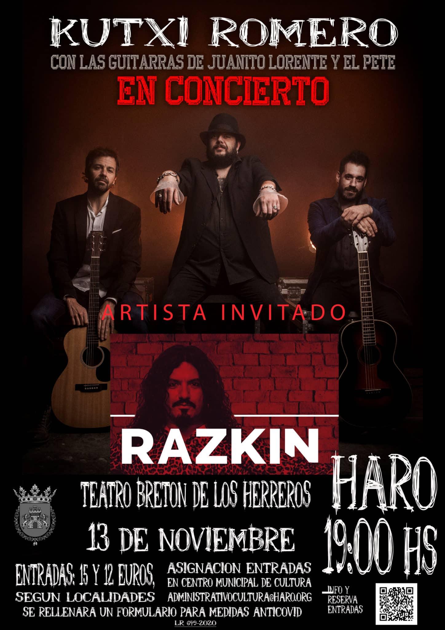El concierto de Kutxi Romero en Haro adelanta aún más su horario 1