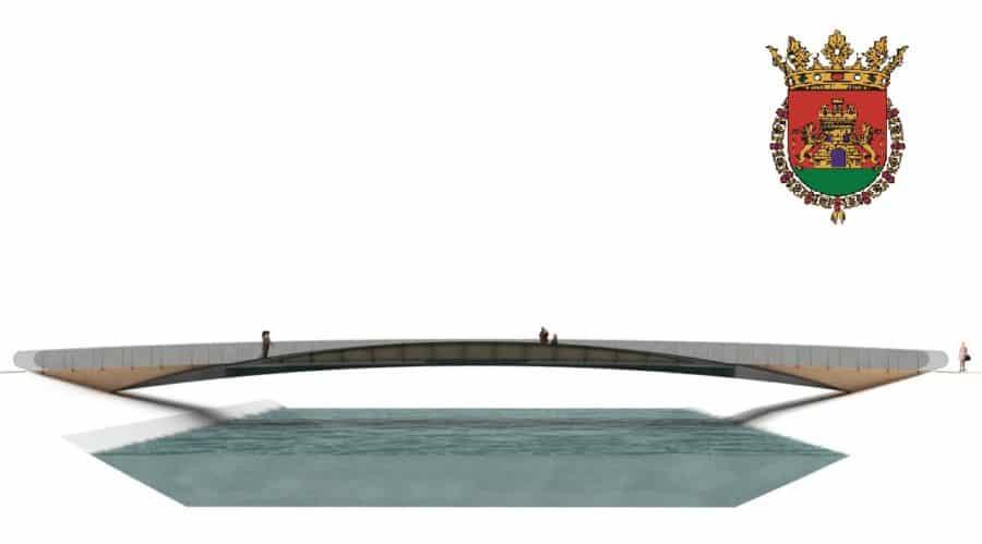 Haro da el primer paso para la obra de la pasarela turística sobre el Tirón 1