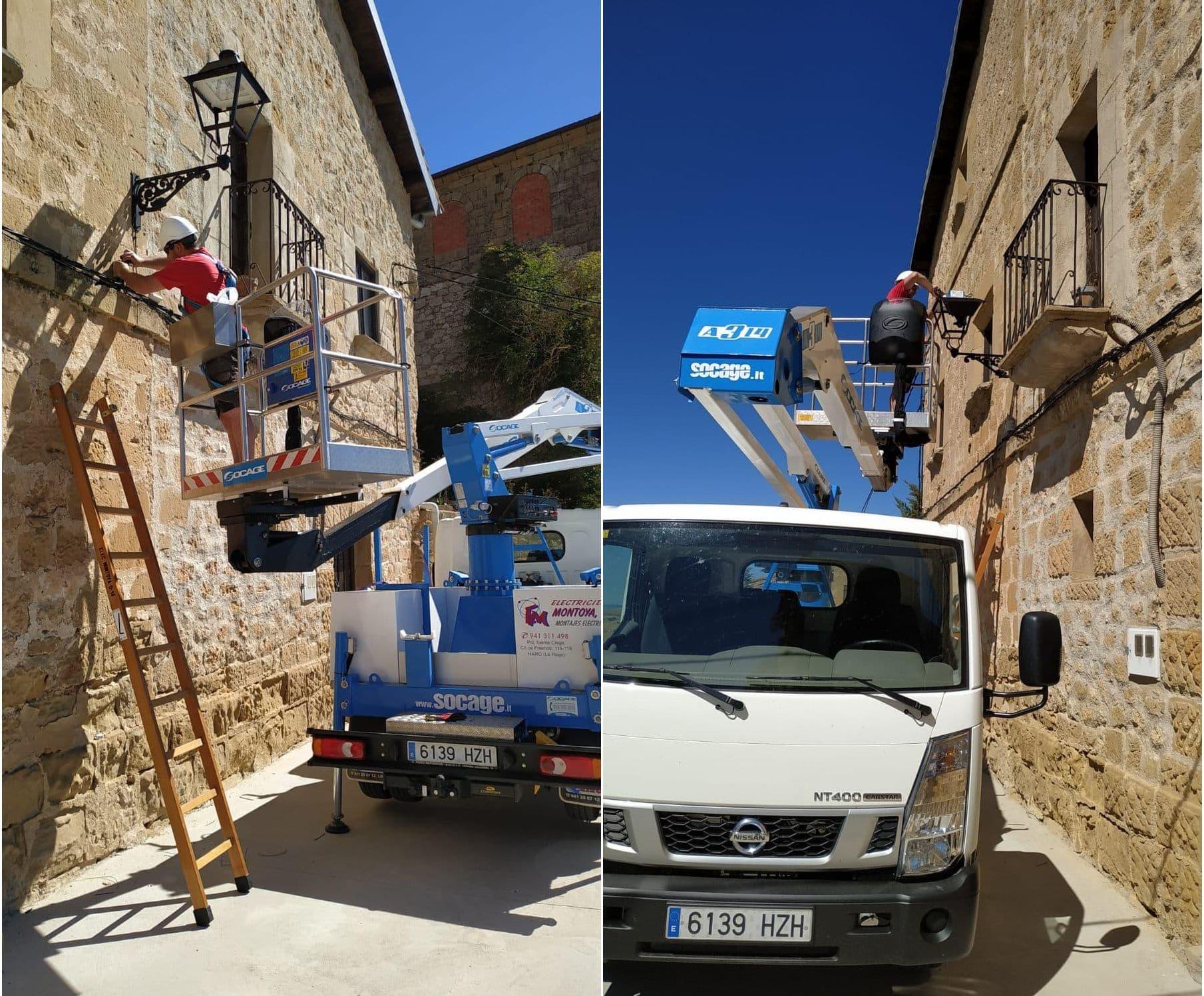 Renovación alumbrado público en Cellorigo