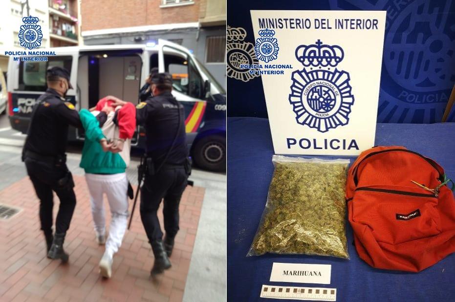 Detenido por tráfico de drogas