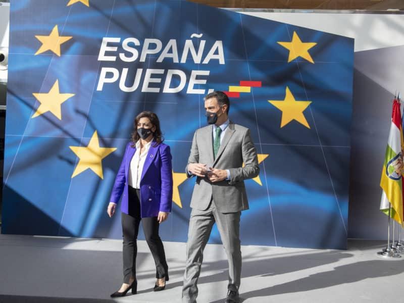 Pedro Sánchez y Concha Andreu