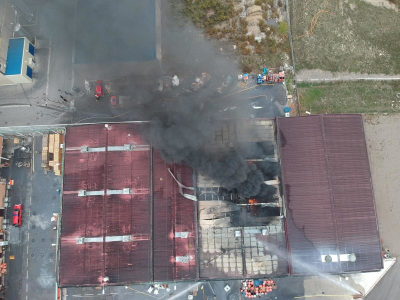 Incendio en Kupsa