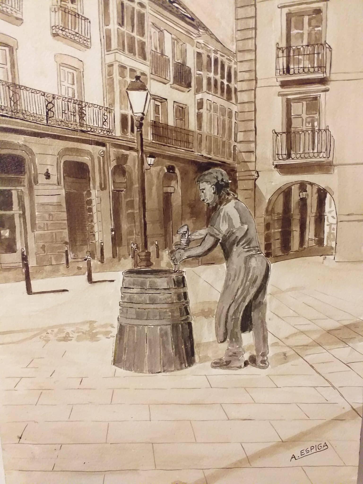 Alejandro Espiga muestra en Haro su exposición de pintura con fines solidarios 1