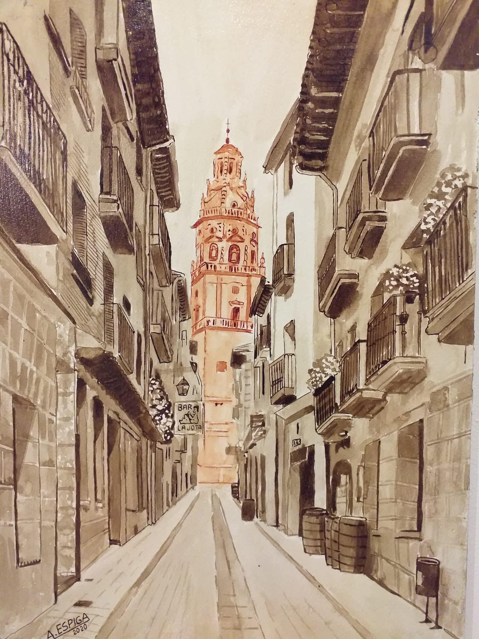 Alejandro Espiga muestra en Haro su exposición de pintura con fines solidarios 2