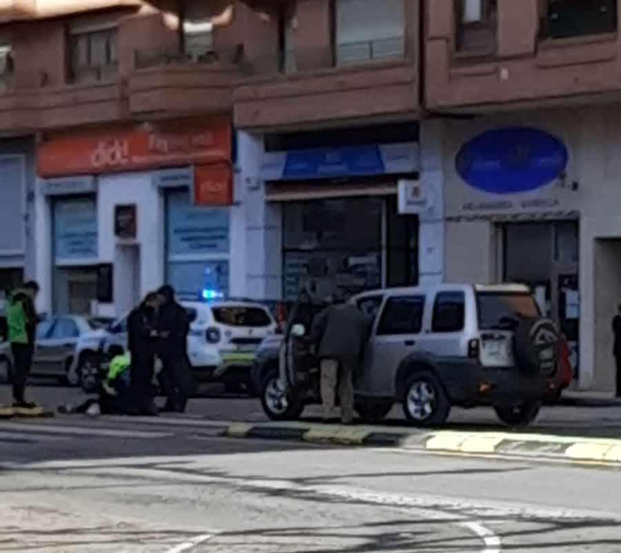 Dos personas resultan heridas en un atropello en Haro 1