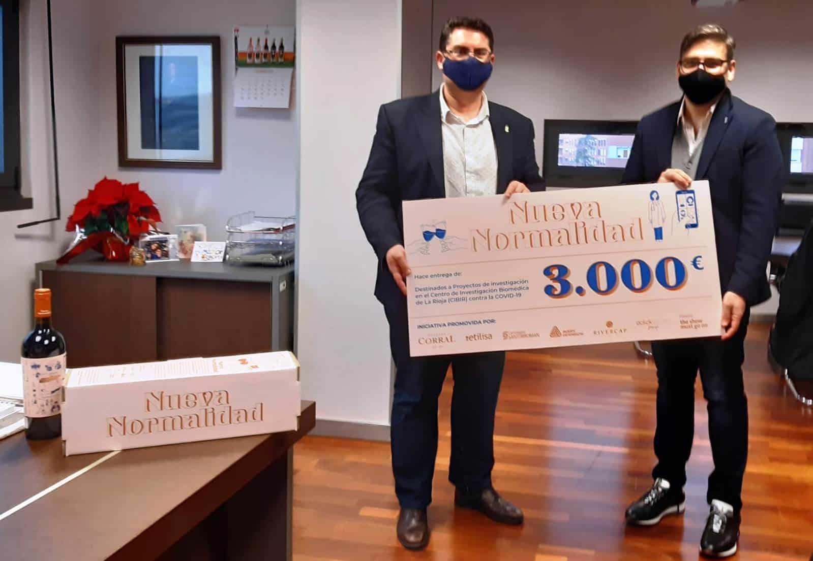 El CIBIR recibe 3.000 euros para la investigación de la COVID-19 tras agotarse las 500 botellas del vino 'Nueva Normalidad' 1