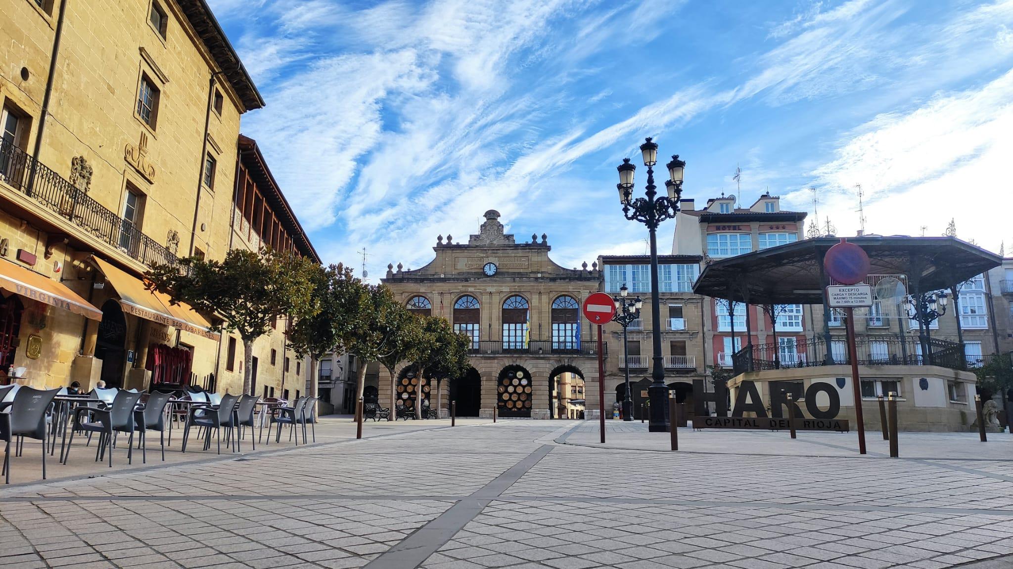 Haro desde la calle Navarra