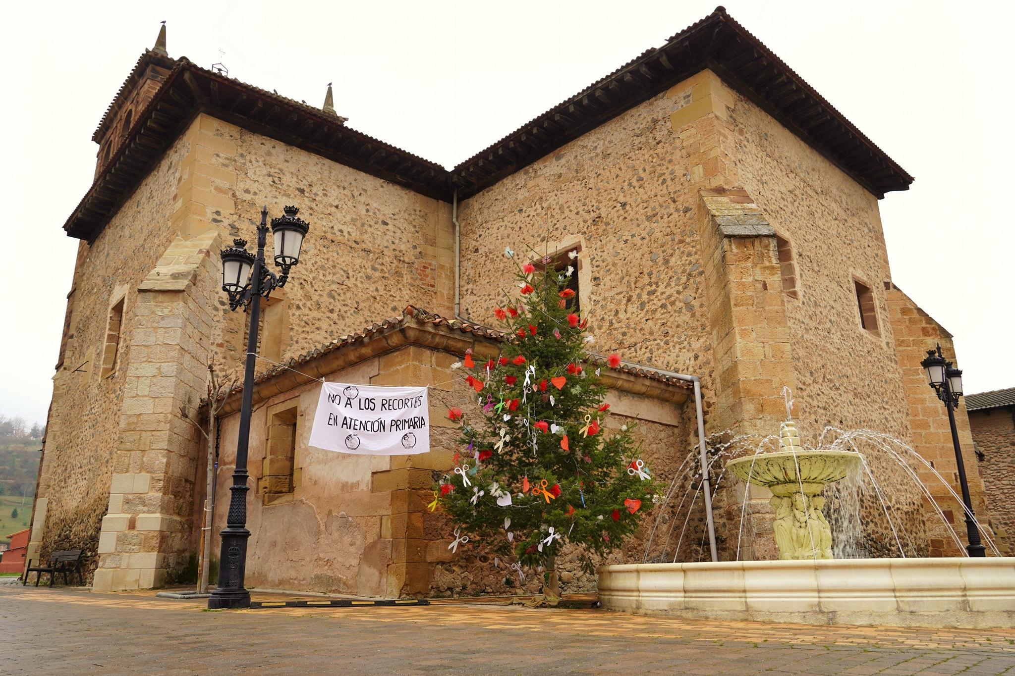 La lucha por la sanidad pública en Santurde continúa por Navidad 2