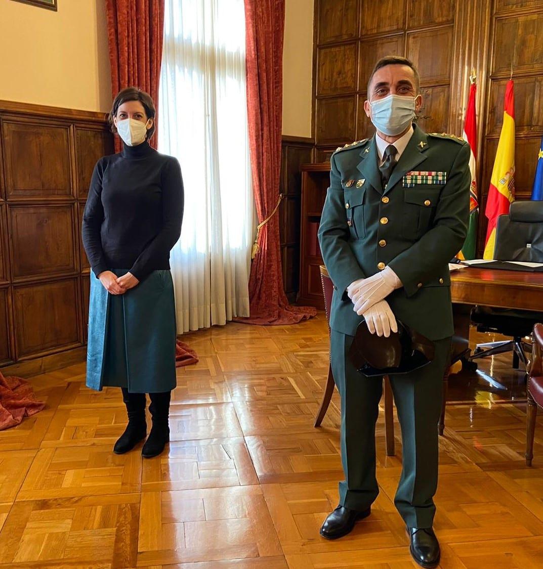 Andreu y Marrodán reciben al nuevo jefe de la UAR de la Guardia Civil, el coronel Francisco Javier Molano 1