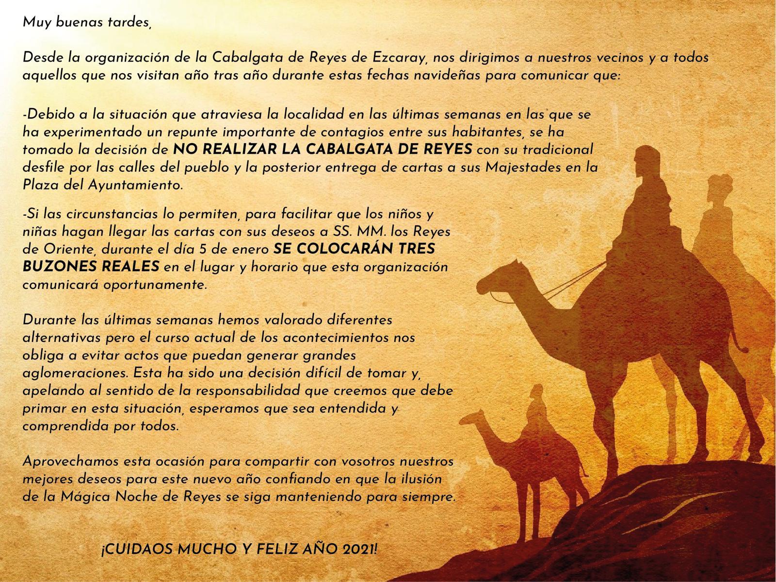 Ezcaray suspende su tradicional Cabalgata de Reyes por la incidencia del coronavirus 1