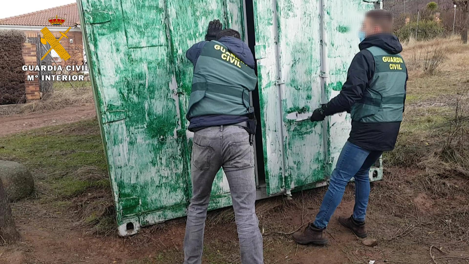 La Guardia Civil detiene al presunto autor del robo de varios contenedores en La Rioja 1