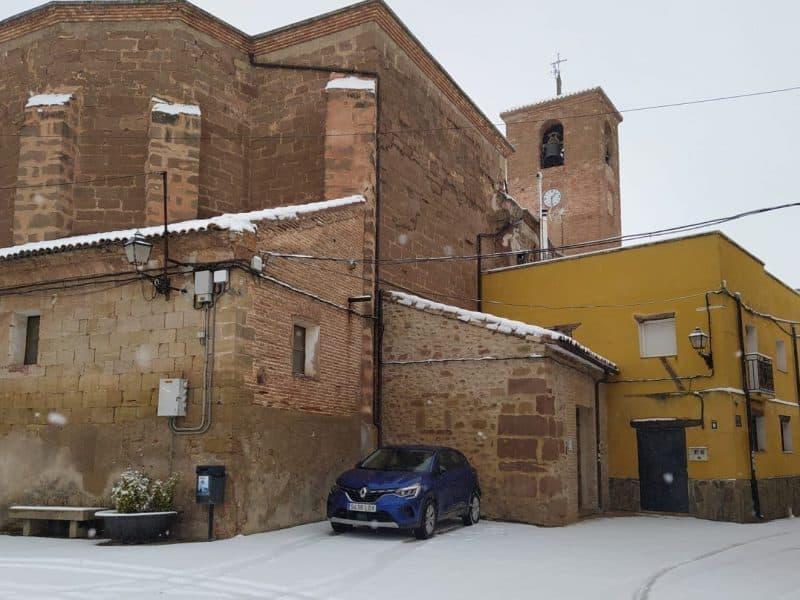 Nieve en Alesón