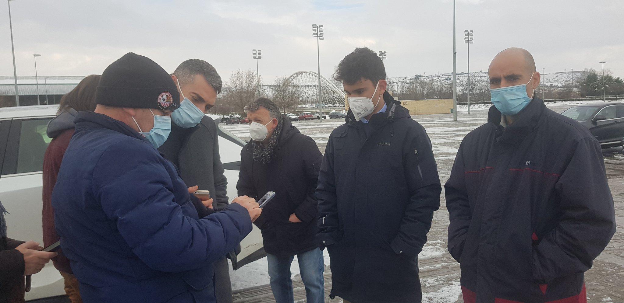 Aplazado por la nieve el derbi entre la SD Logroñés y el Haro Deportivo 1