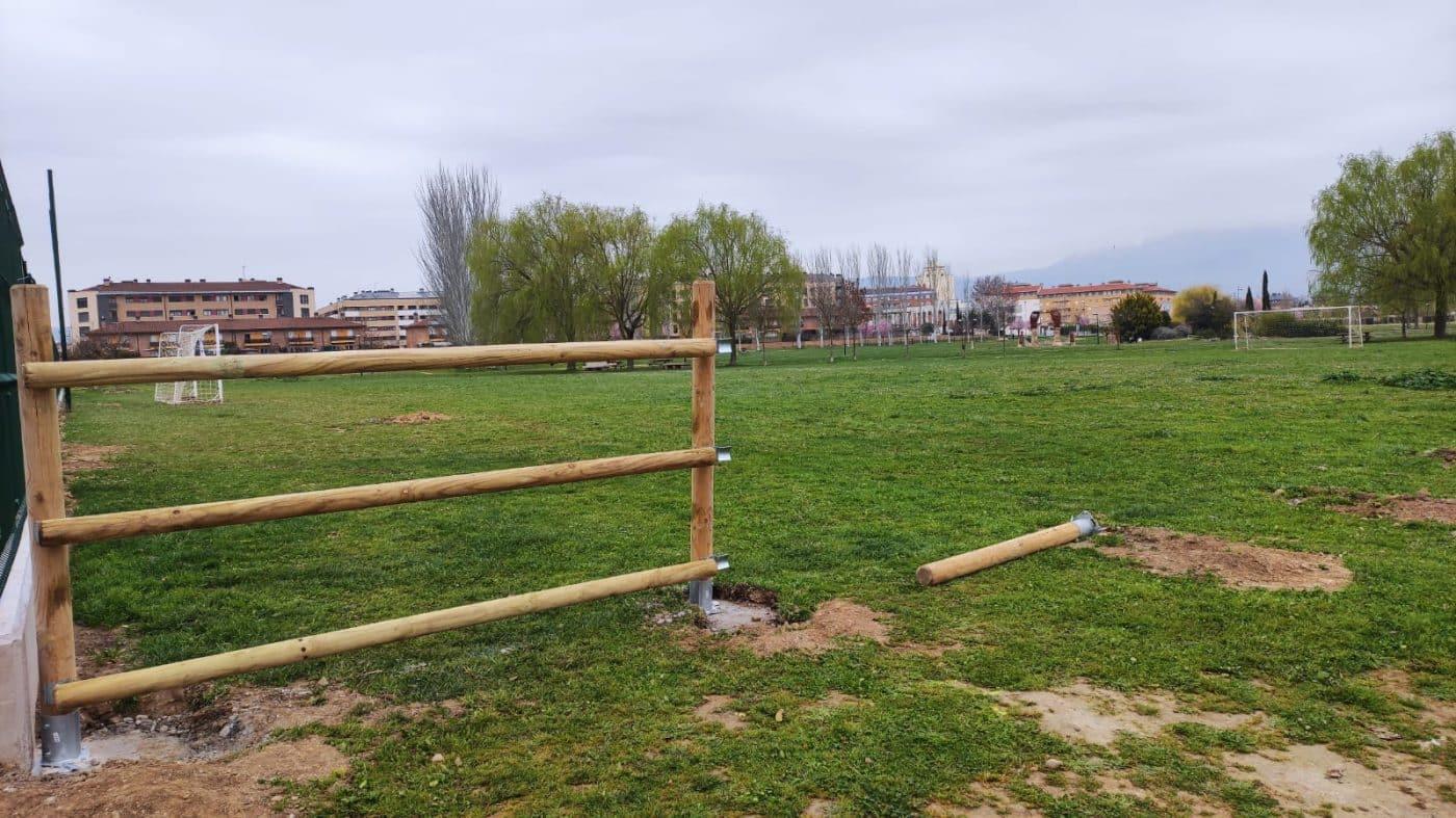Los campos de fútbol abiertos de El Mazo cogen forma 2