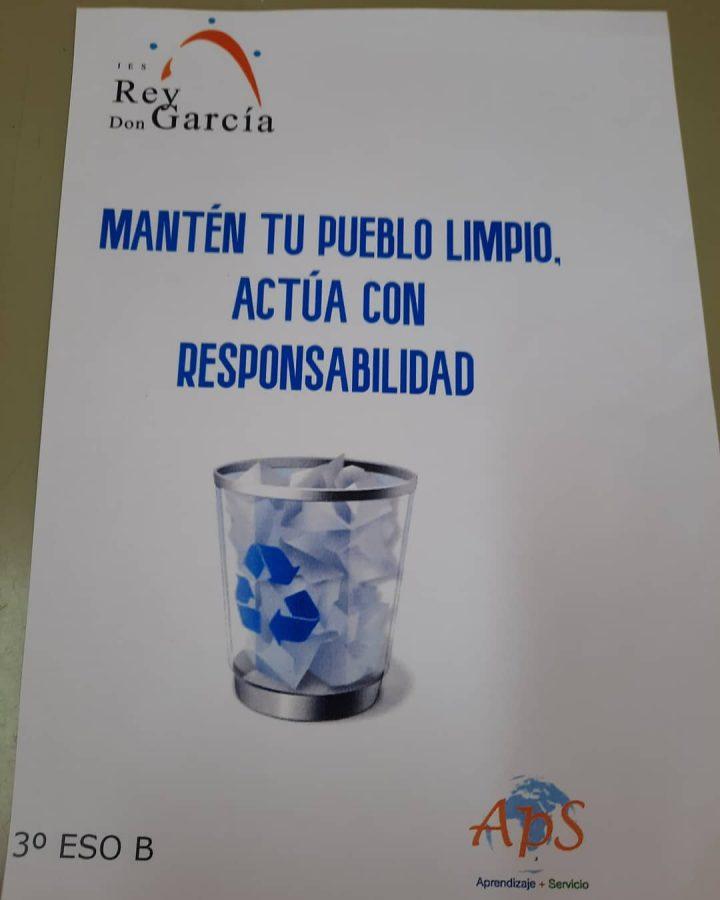 Alumnos del IES Rey Don García impulsan un proyecto educativo para mantener el entorno de Nájera más limpio 1