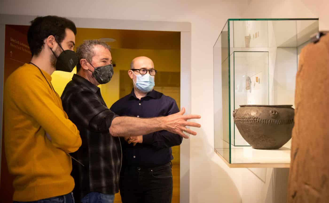 Javier Cámara visita el Museo de La Rioja para sumarse al proyecto 'Redescubrir el Museo' 1