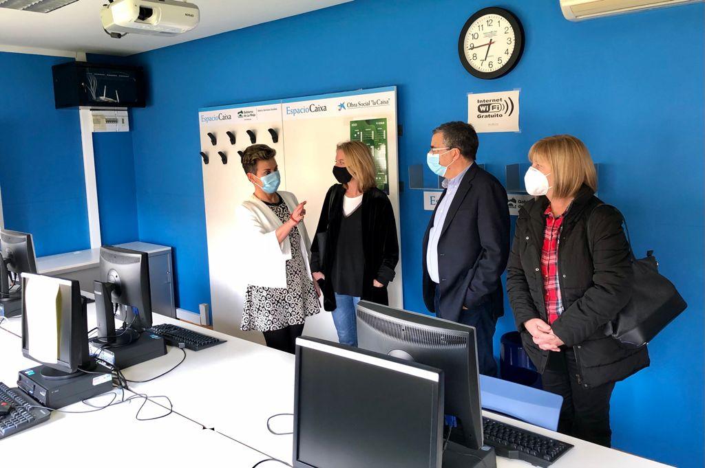 Rubio y Somalo visitan el Centro de Participación Activa de Nájera 1