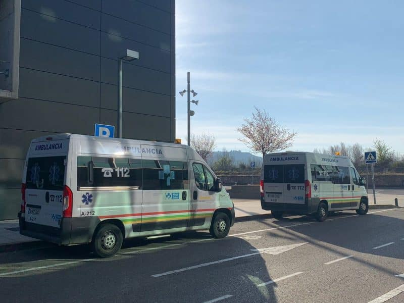 Ambulancias en el Hospital San Pedro