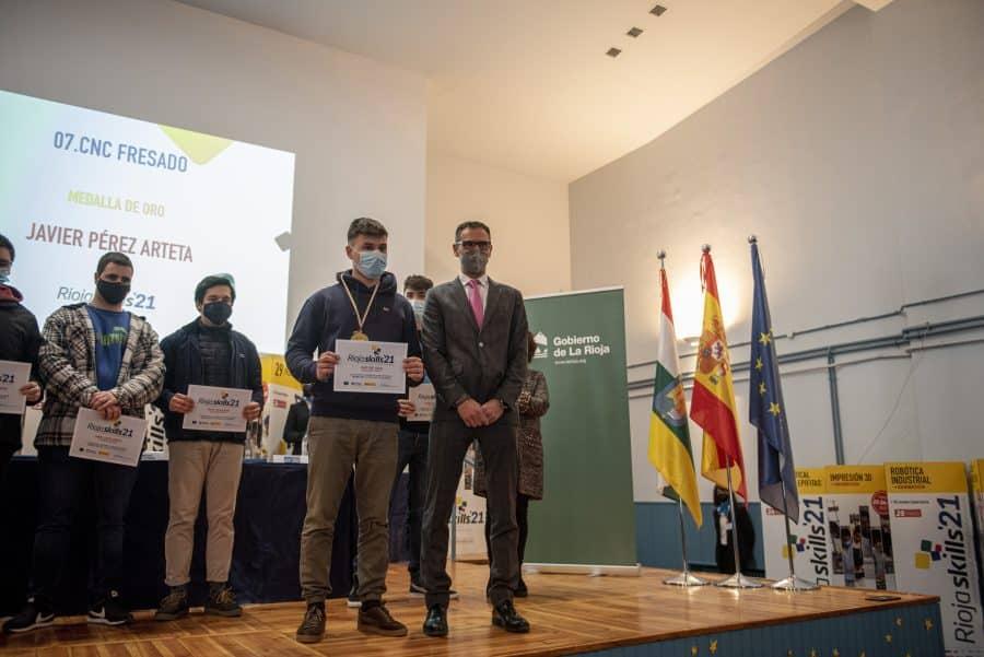 """RiojaSkills 2021 entrega sus premios y se plantea como reto una FP """"que rompa con los estereotipos culturales"""" 6"""