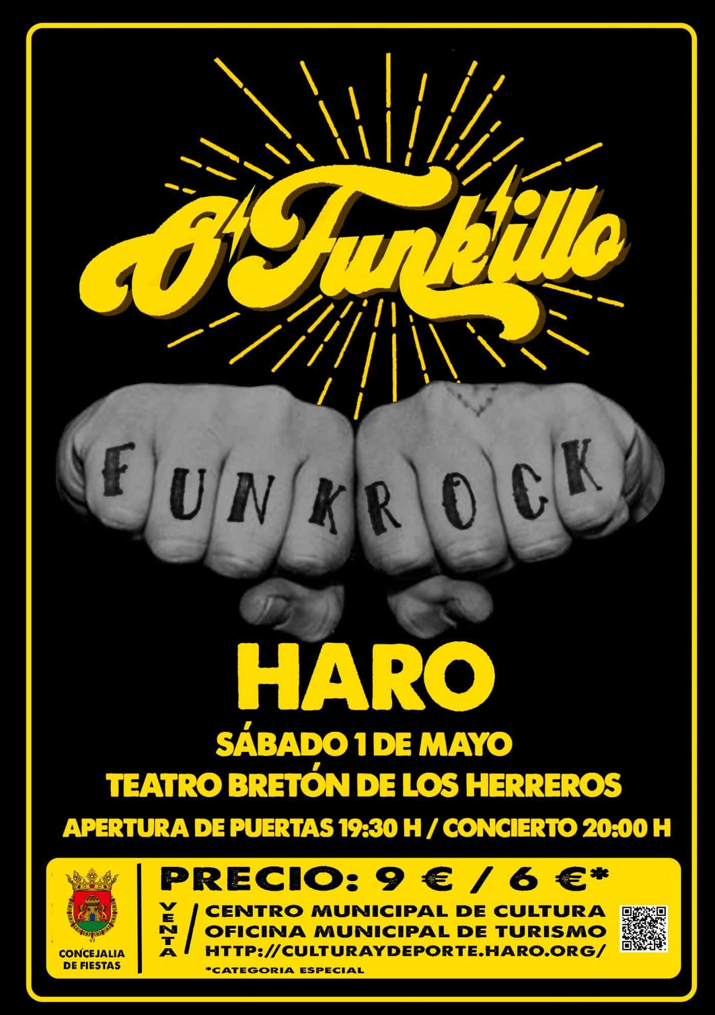 El grupo O'Funk'illo ofrecerá un concierto en Haro el próximo 1 de mayo 1