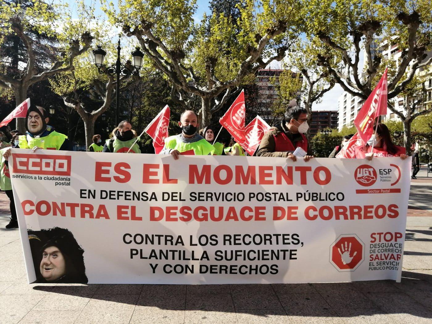 Manifestación Correos