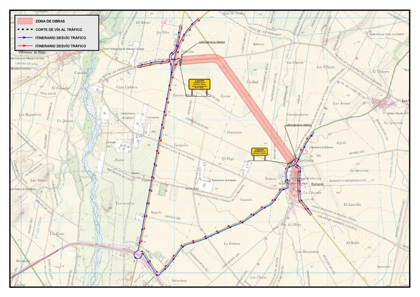 La LR-309 en Bañares estará cortada al tráfico desde el 3 de mayo para obras de ensanche y mejora 1