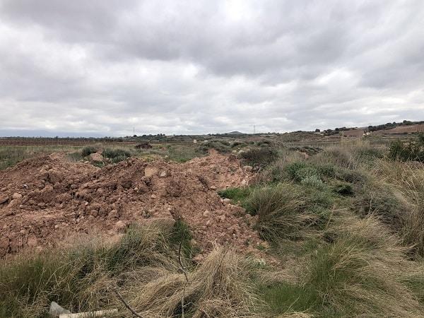 """La laguna de Huércanos """"desaparece"""" bajo escombros y vertidos 1"""