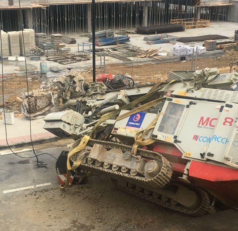Aparatoso accidente en las obras del nuevo Mercadona en Haro 3