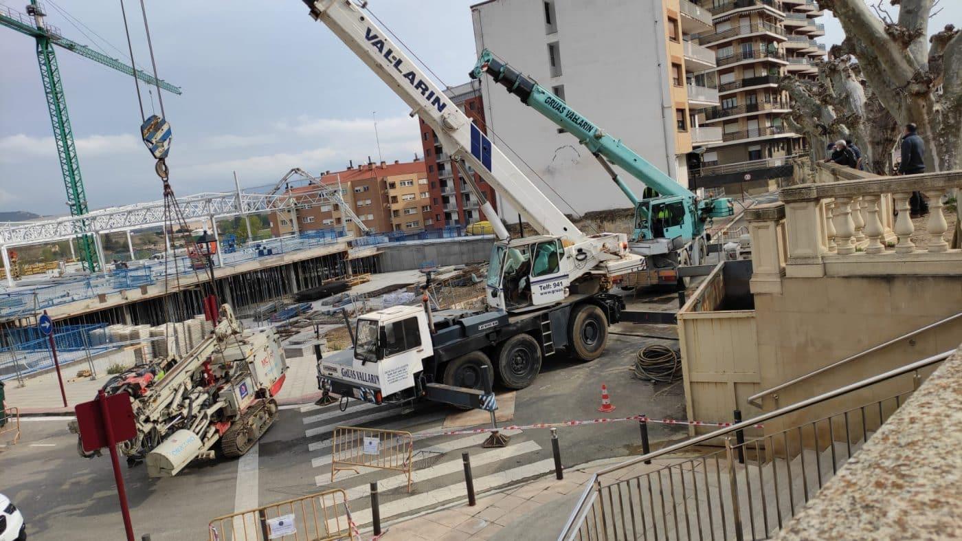 Aparatoso accidente en las obras del nuevo Mercadona en Haro 5