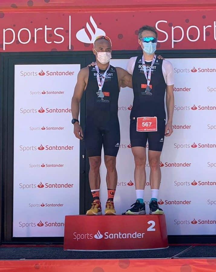 Riaño y Celada, medalla de plata en el Campeonato de Madrid de Duatlón 2